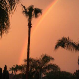 #rainbow #dust #mylenseyeview #eyetothesky #clouds #Arizona